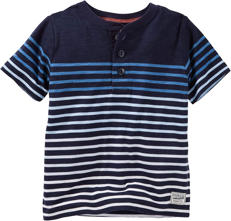 Carter's Baby Boys' Striped Slub Jersey Polo, Blue