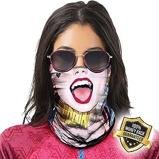 Multifunktionell duk mask skyddsmask 3D-tryckt masker halsduk munskydd UV-dammskydd balaklava sömlös bandana kvinnor män, ...