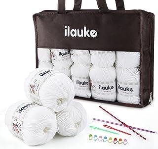 Lot de 10 pelotes de laine en polyacrylique de qualité supérieure - Pour le tricot - Multicolore - Pour le crochet, le cot...