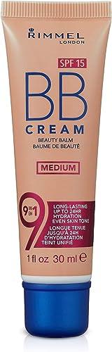 Rimmel London Match Perfection 9-in-1 Super Makeup BB Cream, 002 Medium