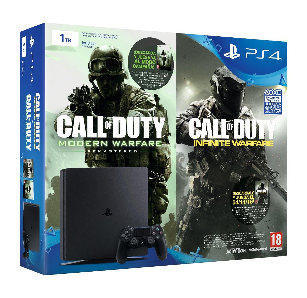 PlayStation 4 Slim (PS4) 1TB - Consola + Call Of Duty: Infinite Warfare + Call Of Duty: Modern Warfare Remasterizado: Amazon.es: Videojuegos