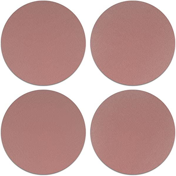 CARIBOU Coasters Solid Rose Gold Design Absorbent ROUND Fabric Felt Neoprene Coasters For Drinks 4pcs Set