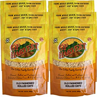 GF Harvest Gluten Free PureOats Rolled Oats, 20 oz. Bag, 6 Count