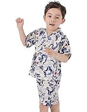 6e7da5f63c1f5 Dizoon (ディゾン) 2019 甚平 男の子 子供服 浴衣 着物 春夏 和服 お祭り パジャマ