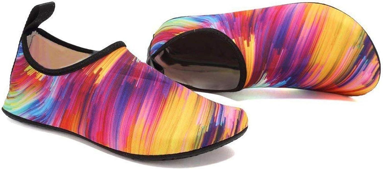 Couples Summer Outdoor Water Aqua Socks Beach Swim Surf Yoga Exercise Shoes (Multicolor, Numeric_12)