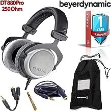 Beyerdynamic DT 880 Pro 250 Ohm Semi-Open Studio Mixing Headphones -Includes- Soft Case, Splitter, and 1-Year Extended Warranty