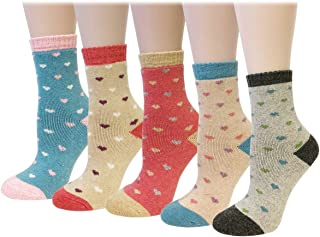 Wrapables Women's Thick Winter Warm Wool Socks (Set of 5)