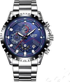 LIGE 9821 Men's Watch Outdoor Sports and Leisure Fashion Waterproof Quartz Watch