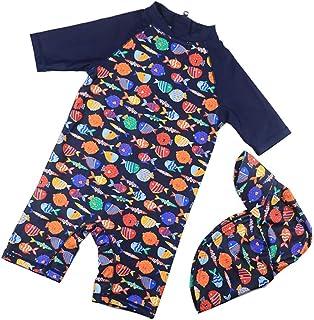 男の子の水着 男の子のワンピース水着 子供用の水着 リトルミドルスクールボーイ サンプロテクション水着 水着水着 (サイズ : XL)