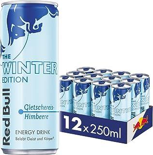Red Bull Energy Drink Winter Edition Gletschereis Himbeere Dosen Getränke, 12er Pack 12 x 250 ml