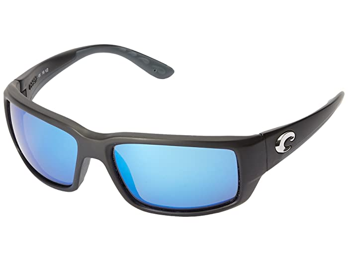 Costa  Fantail 580 Mirror Glass (Black/Blue Mirror 580 Glass Lens) Sport Sunglasses