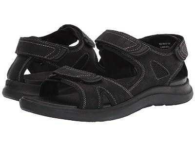 Nunn Bush Rio Vista 3-Strap River Sandal (Black) Men