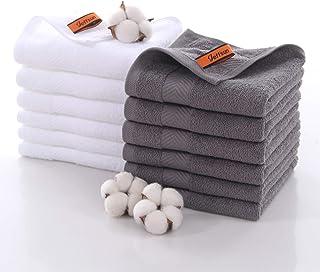 Hotel & Spa Quality Washcloths Set, 12-Pack 13.8 x 13.8 Inch, 100% Ring Spun Cotton, Premium Large Bathroom Face Cloths, U...