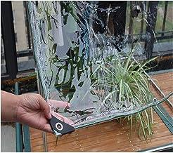 GYOWEI transparant zeildoek, zware waterdichte PVC-plantenhoezen, buiten scheurbestendige stofdichte tarpen, 0,5 mm 600 g/...
