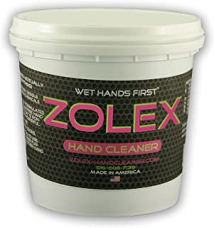 Zolex Water Activated Hand Cleaner for Working Hands| Stain Remover for Heavy Duty Workers | Grease Remover for Mechanics and Heavy Duty Workers - Non-Toxic Petroleum Free | Shop-Sized 3 lb. Tub |