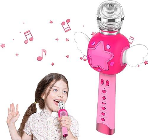 KOMVOX Karaoké Micro Enfant pour Chanter, Micro Karaoke Enfant, Cadeau de d'anniversaire Idéal pour Les Reine des Nei...
