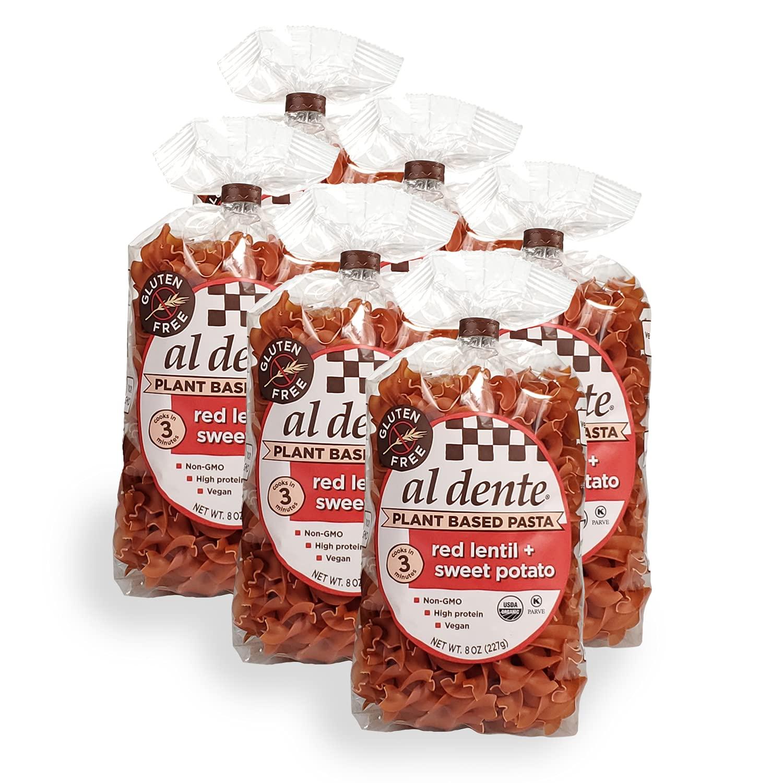 Al Dente safety Plant Based Pasta Manufacturer OFFicial shop Red Lentil P Sweet + Potato Ounce 8