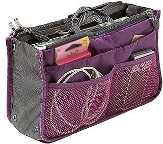 (Purple) - Handbag Pouch Bag in Bag Organiser Insert Organiser Tidy Travel Cosmetic Pocket Bag(Purple)