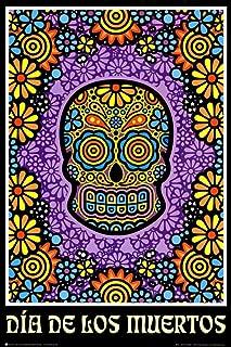 Dia de Los Muertos Day of The Dead Art Poster Print Poster Poster Print, 24x36