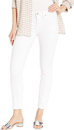 Tally Mid-Rise Crop Skinny Jeans in White