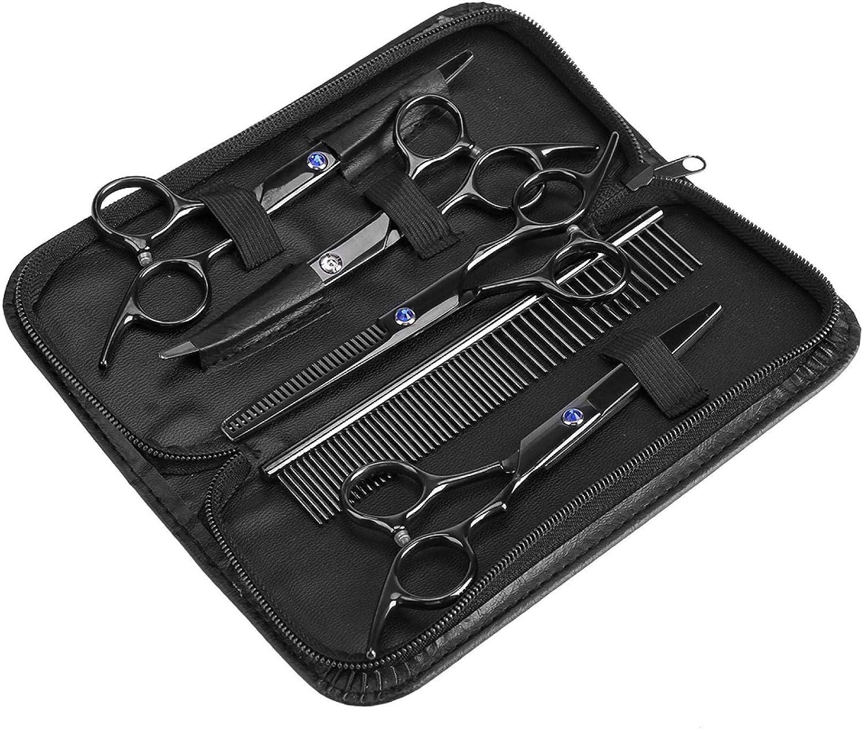 KUIDAMOS 7 Piece Max 79% OFF Pet Grooming quality assurance Scissors Trimmer Set Made Kit