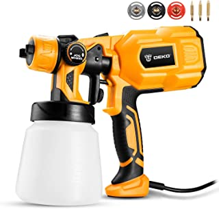 DEKO Paint Sprayer, 550 Watt High Power HVLP Home Electric Spray Gun,3 Nozzle Sizes, Lightweight, Easy Spraying and Cleaning