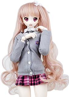 Wigs Only 8-9 inch 1/3 BJD Wig Doll Hair SD DZ DD DOD Wig (Flesh Pink)