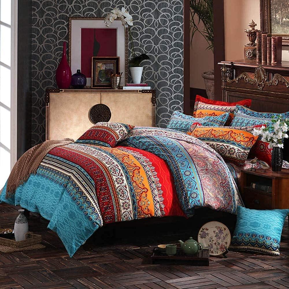 Abreeze Bohemian Bedding Set King Fashion Exotic Size Boho Chic Striped Louisville-Jefferson County Mall