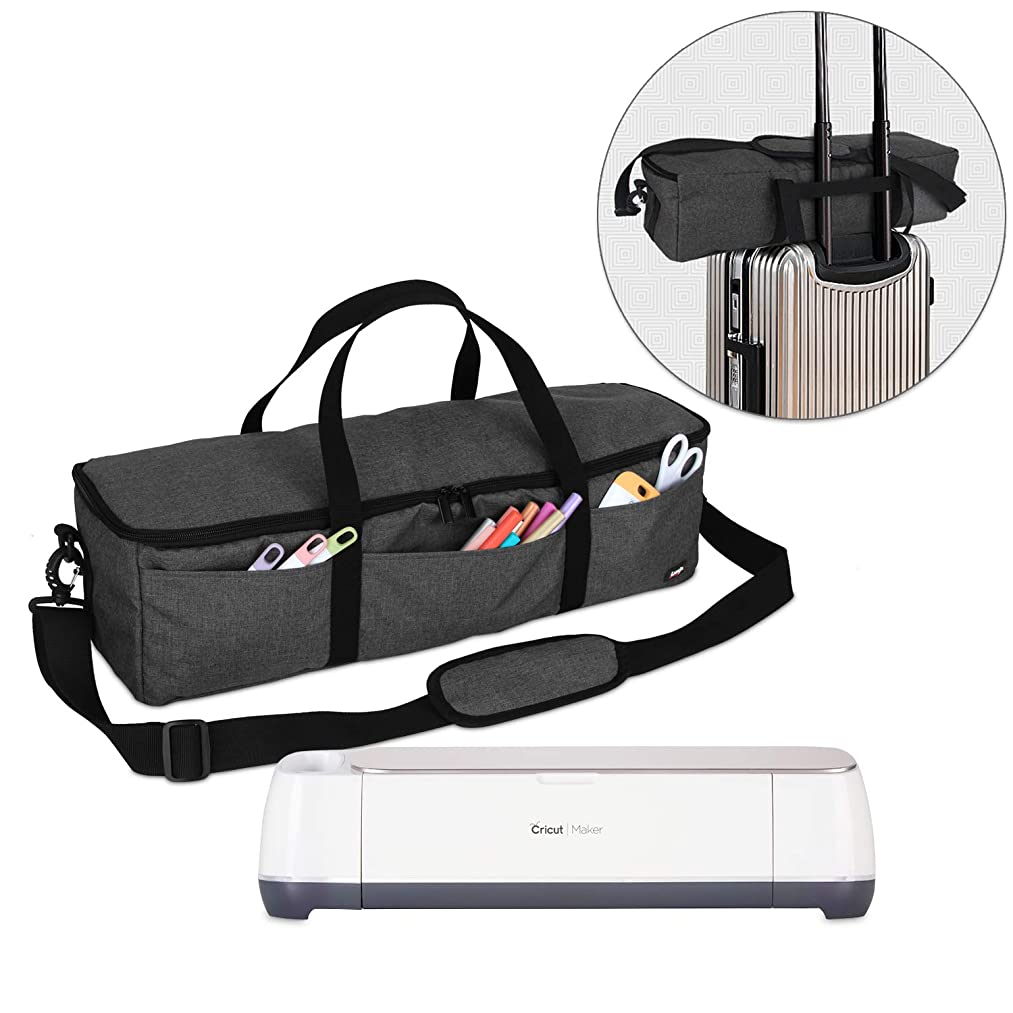 Luxja Foldable Bag Compatible with Cricut Explore Air and Maker, Carrying Bag Compatible with Cricut Explore Air and Supplies (Bag Only), Black