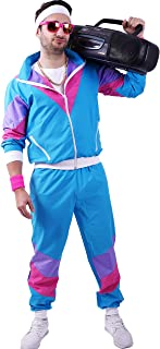 80s / 90s Shell Suit Party Dress Costume/Retro Tracksuit / 90s Hip Hop Costumes / 80s Costumes for Men/Windbreaker and Pants