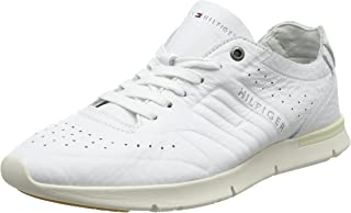 Tommy Hilfiger Men's Unlined Th Light Leather Runner Low-Top Sneakers