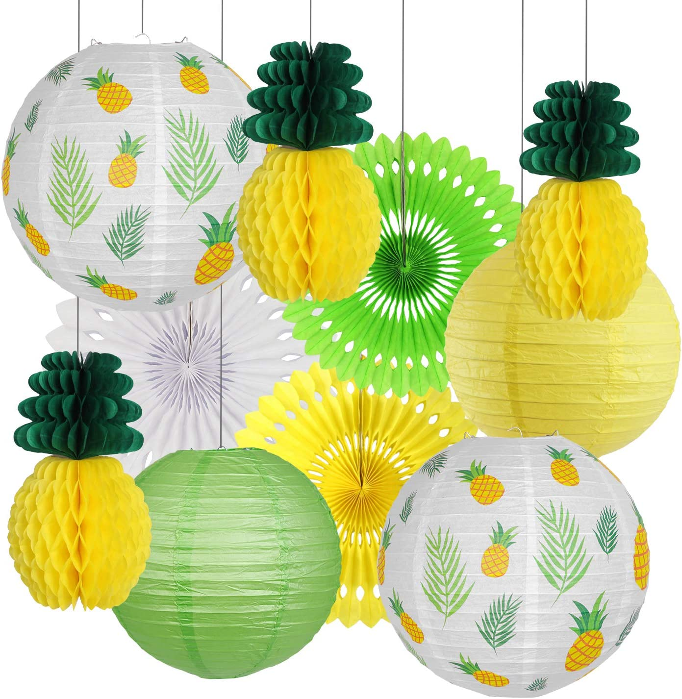 Pineapple Easy-to-use Party Decorations Hawaiian Ranking TOP16 Le Supplies Tropical