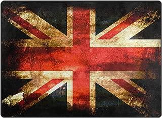 Love Needs Floor Mat Retro Vintage UK The Great British Flag Outdoor Indoor Doormat Livingroom Bedroom Sofa Carpet Non Slip Home Hotel Entryway Custom Area Rugs Mat 15.7inX23.6in