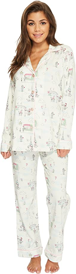 BedHead Long Sleeve Classic Knit Two-Piece Pajama Set