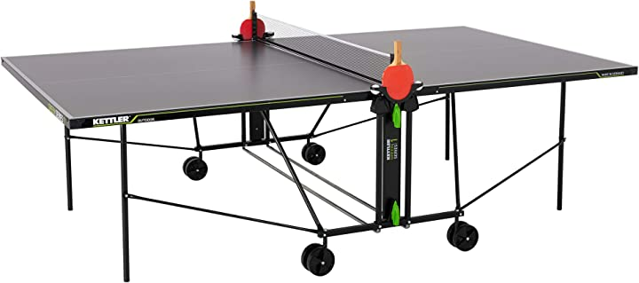 Tavolo da ping pong per esterni, dimensioni tornei, robusto piano in resina melaminica antigraffio kettler B085DRC595