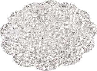 Krx 1 set de table rond en forme de nuage pour table de salle à manger, cuisine, salle à manger, blanc laiteux