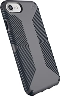 Speck Products Presidio Grip Case for iPhone 8 (Also Fits 7/6S/6), Graphite Grey/Charcoal Grey