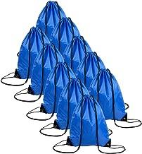 10 PCS Polyester Drawstring Backpack Multipurpose Sport Fabric String Bag