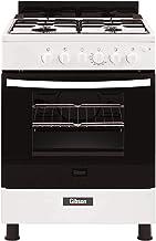 GIBSON Gas Cooker 60x60 4 Burner white Gas+ Electric - GNFJ60JGUW