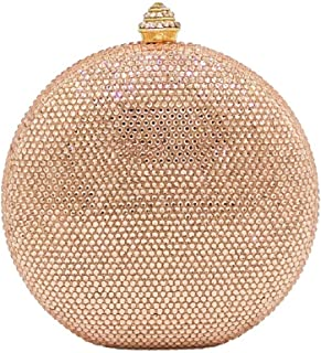 Boutique De FGG womens CBG813007 Round Crystal Evening Bag