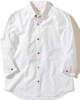 (ビームス)BEAMS/カジュアルシャツ / 7分袖 オックスフォード トリコロールパイピング シャツ メンズ