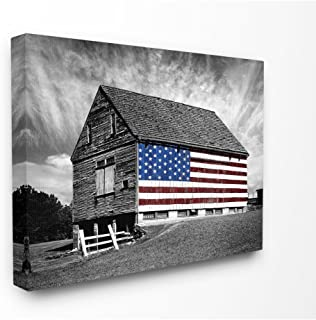 american flag barn picture