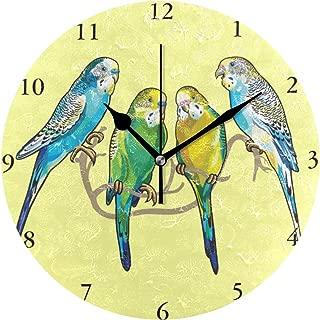 MIKA壁掛け時計 雑貨 かけ時計 壁掛時計 掛け時計 時計 無音時計 連続秒針 静音 オシャレ セキセイインコ