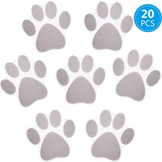 Mudder Non-slip Bathtub Stickers Adhesive Paw Print Bath Treads Non Slip Traction to Tubs Bathtub Stickers Adhesive Decals Anti-slip Appliques for Bath Tub Showers, Pools, Boats, Stairs (20 Pieces)