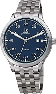 Joshua & Sons Men's Automatic Watch, Analog Display and Stainless Steel Strap JX149SSBU