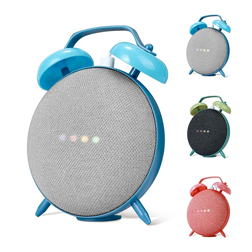 LANMU Holder Stand for Google Home Mini,Retro Clock Case Mount for Google Home Mini Smart Voice Assistants (Blue)
