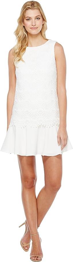 Flounced Hem Lace Dress
