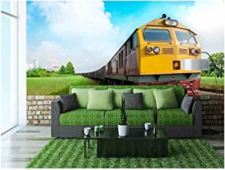 wall26 - Cargo Train - Removable Wall Mural   Self-Adhesive Large Wallpaper - 100x144 inches