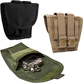 ATG Tactical Single Handcuff Pouch MOLLE PALS PVC Black