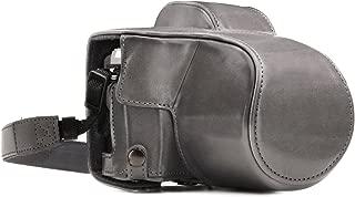 MegaGear Olympus OM-D E-M10 Mark III (14-42mm) Ever Ready(エヴァーレディー) 本革 カメラ ケース ストラップ付き バッテリー アクセス可能